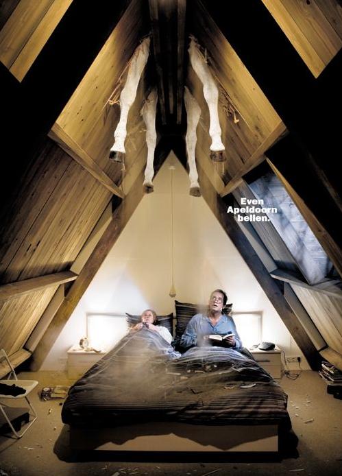 Centraal Beheer Even Apeldoorn bellen Sinterklaas dagbladgoud advertentie